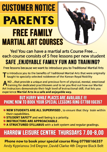 self defence classes harrow A5 2